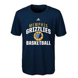 Youth Memphis Grizzlies Poly Climalite Tee NWT M